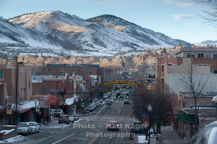 Downtown Golden, Colorado, Thursday, January 12, 2012. Golden is voting on weather or not to complete the beltway around Denver..Photo by Matt Nager