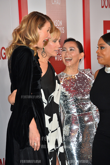 Laura Dern, Kristen Wiig, Hong Chau &amp; Niecy Nash at the special screening of &quot;Downsizing&quot; at the Regency Village Theatre, Westwood, USA 18 Dec. 2017<br /> Picture: Paul Smith/Featureflash/SilverHub 0208 004 5359 sales@silverhubmedia.com