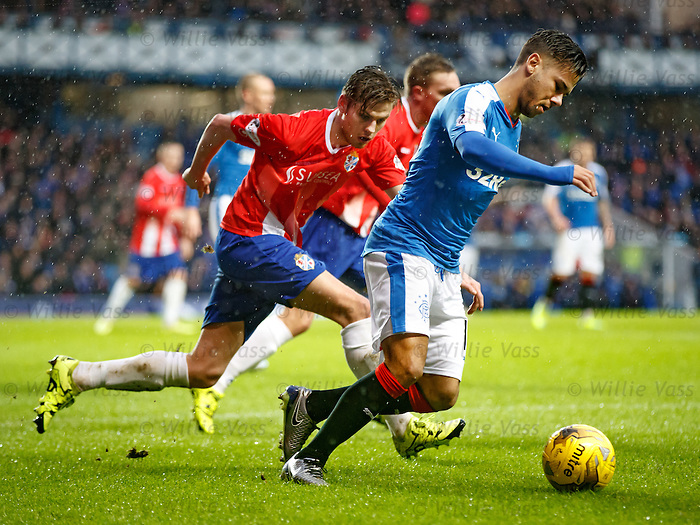 Harry Forrester twisting and turning at the corner flag