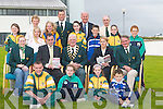 GAMES: At the ITT on Monday evening details were announced of The HSE Community.Games Munster Provisional Finals which will take place at the North Campus ITT on Saturday.14th July, hosted by Kerry Community Games. At the announcement were, front row l-r:.Padraig Whelan (Lixnaw), Courtney Ryan and Michelle Doody (Tralee) and Cathal Rogers.(Spa). 2nd row l-r: Sharon Fealy (Abbeydorney), Michael Carmody (director ITT), Frank.Switzer (president), Margaret Culloty (secretary) and Jimmy Turner (chairman). 3rd row l-r:.Hannah Ryan (Tralee), Katie Ni Mhuircheartaigh (An Gaeltacht), Maura O'Connell (Abbeydorney),.Julia Collins (Duagh), Cian Sayers (Spa), Mary.Doody and Jack Moriarty (Tralee). Back row l-r: Patsy.O'Connell (Abbeydorney), Eamonn Whelan (Munster Games.director), Anthony Fitzsimons (Munster Games chairman).and Neilus Collins (Duagh).