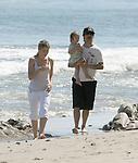 AbilityFilms@yahoo.com.805-427-3519.www.AbilityFilms.com....3-28-09  Exclusive .Anthony Kiedis walking on the beach in Malibu ca with his baby Everly Bear  Heather Christie & friends