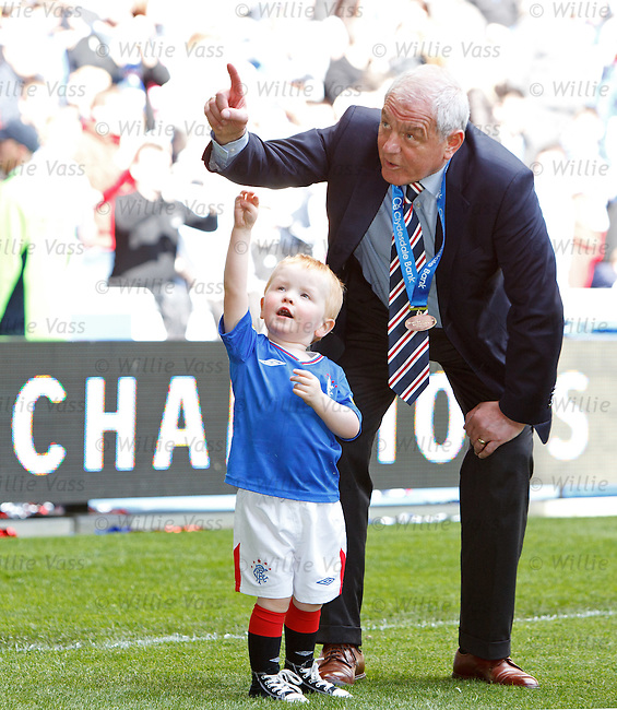 Walter Smith with grandson Adam