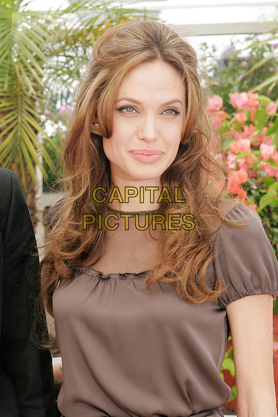 "ANGELINA JOLIE.""A Mighty Heart"" photocall at the 60th International Cannes Film Festival, Cannes, France. .May 21st, 2007.half length top brown.CAP/DAR.©Darwin/Capital Pictures"