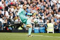1st February 2020; Estadio Santiago Bernabeu, Madrid, Spain; La Liga Football, Real Madrid versus Atletico de Madrid; Jan Oblak (Atletico de Madrid) clears long upfield