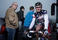 Andre Greipel before the start..74th Gent-Wevelgem (2012).236km between Deinze & Wevelgem.winner 2012: Tom Boonen..