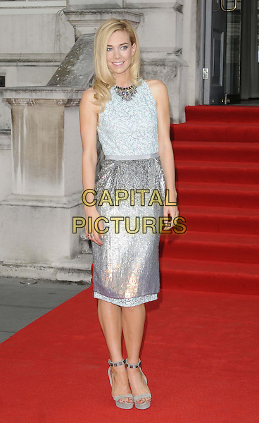 Vanessa Kirby<br /> attended the &quot;About Time&quot; UK film premiere to open Somerset House's Film4 season of outdoor cinema, Somerset House, the Strand, London, England, UK, 8th August 2013.<br /> full length silver dress hand on hip ankle strap shoes sandals <br /> CAP/CAN<br /> &copy;Can Nguyen/Capital Pictures