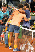 Spanish Rafael Nadal and Portuguese Joao Sousa during Mutua Madrid Open Tennis 2016 in Madrid,  May 06, 2016. (ALTERPHOTOS/BorjaB.Hojas) /NortePhoto.com /NortePhoto