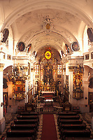 Austria, church, Durnstein, The Danube Valley, Wachau, Interior of The Parish Church