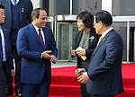 Egyptian President Abdel Fattah al-Sisi meets with <br /> Head of Korean Parliament in Seoul, South Korea, 03 March 2016. Egypt's President Abdel Fattah al-Sisi is in South Korea on a three-day official visit to expand exchanges and cooperation between the two nations. Photo by Egyptian President Office