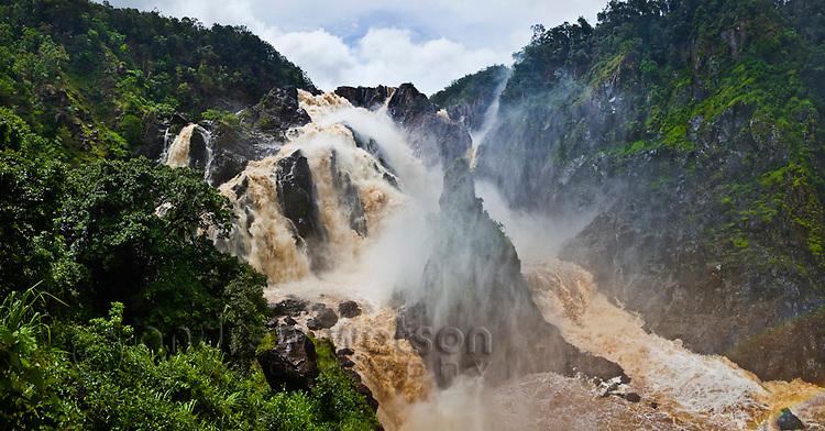 Barron Falls during the rainy season.  Kuranda, Cairns, Queensland, Australia