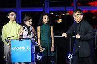 NEW YORK, NY, 12.12.2016 - ONU-UNICEF -  O ator Jackie Chan  durante evento de 70º aniversário da UNICEF (Fundo das Nações Unidas para a Infância) na sede da Nações Unidas em New York os Estados Unidos nesta segunda-feira, 12.  (Foto: Vanessa Carvalho/Brazil Photo Press)