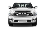 Car photography straight front view of a 2016 Ram 1500 Laramie-Limited-Crew 4 Door Pickup Front View