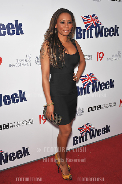 Mel B. at the champagne launch party for BritWeek 2010 at the British Consul-General's residence in Los Angeles..April 20, 2010  Los Angeles, CA.Picture: Paul Smith / Featureflash