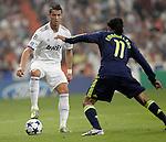MADRID (15/(09/2010).- Champions League match Real Madrid vs Ajax Amsterdam. Cristiano Ronaldo and Urby Emanuelson...Photo: Cesar Cebolla / ALFAQUI