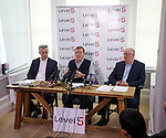 Dave King flanked by Paul Murray and John Gilligan