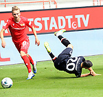 27.06.2020, Stadion an der Wuhlheide, Berlin, GER, DFL, 1.FBL, 1.FC UNION BERLIN  VS. Fortuna Duesseldorf , <br /> DFL  regulations prohibit any use of photographs as image sequences and/or quasi-video<br /> im Bild   Joshua Mees (1.FC Union Berlin #8),<br /> Steven Skrzybski (Fortuna Duesseldorf #20)<br /> <br /> <br />      <br /> Foto © nordphoto / Engler
