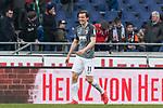 10.03.2018, HDI Arena, Hannover, GER, 1.FBL, Hannover 96 vs FC Augsburg<br /> <br /> im Bild<br /> Michael Gregoritsch (FC Augsburg #11) freut sich / bejubelt Sieg, <br /> <br /> Foto &copy; nordphoto / Ewert