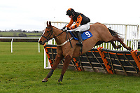 Midnight Calamity ridden by Harry Kimber in The Hunts Food Service Mares' Maiden Hurdle  during Horse Racing at Wincanton Racecourse on 5th December 2019