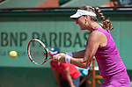 Petra Kvitova (CZE) wins at Roland Garros in Paris, France on June 2, 2012