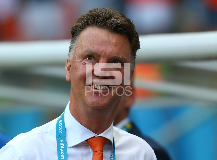 Netherlands manager Louis Van Gaal smiles