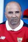 Sevilla FC's coach Jorge Sampaoli during La Liga match. October 15,2016. (ALTERPHOTOS/Acero)