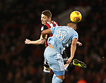 Caolan Lavery of Sheffield Utd and Tyias Browning of Sunderland during the Championship match at Bramall Lane Stadium, Sheffield. Picture date 26th December 2017. Picture credit should read: Simon Bellis/Sportimage