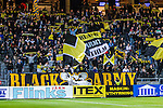 Solna 2013-09-30 Fotboll Allsvenskan AIK - &Ouml;sters IF :  <br /> AIK supportrar p&aring; st&aring;platsl&auml;ktaren Norra St&aring; innan matchen<br /> (Foto: Kenta J&ouml;nsson) Nyckelord:  supporter fans publik supporters