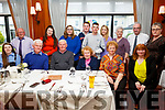 Eileen Griffin from Causeway celebrating her 95th birthday in the Ballygarry House Hotel on Sunday..<br /> Seated l to r: Lorraine Kelly, John, Paddy, Eileen and Mary Griffin and Joan Kelly  <br /> Standing l to r: Maurice Murphy, Lucy Kelly, Blaithine and Mick Griffin, Mike Prenderville, Breda Griffin, Geraldine Costelloe, Paul Kelly and Mary Griffin