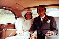 Pictured: Billy McCarley with wife Kath on their wedding day in 1972<br /> Re: Billy McCarley who has recovered from  leukemia but he has also been locked in a bitter dispute with his phone provider True Telecom which keeps chasing him for money they say he owes.