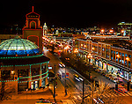 Christmas lights shine brightly on the Country Club Plaza in Kansas City, Missouri.