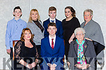 Nathan Wright Listowel wwho 2was honored at the Kerry Athletic awards with his family and friends in the Dromhall Hotel on Saturday night front row l-r: Marie, and Nathan Wright, Jo Walsh. Back row: Cameron Wright, Margaret O'Shea, Dylan O'Shea, kim Mullvihill, and Joan Culhane