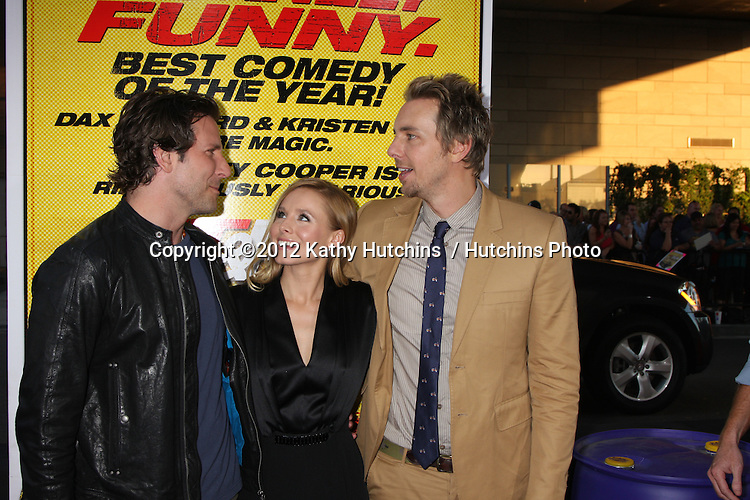 "Los Angeles - AUG 14:  Bradley Cooper, Kristen Bell, Dax Shepard arrives at the ""Hit & Run"" Los Angeles Premiere at Regal Cinema on August 14, 2012 in Los Angeles, CA"