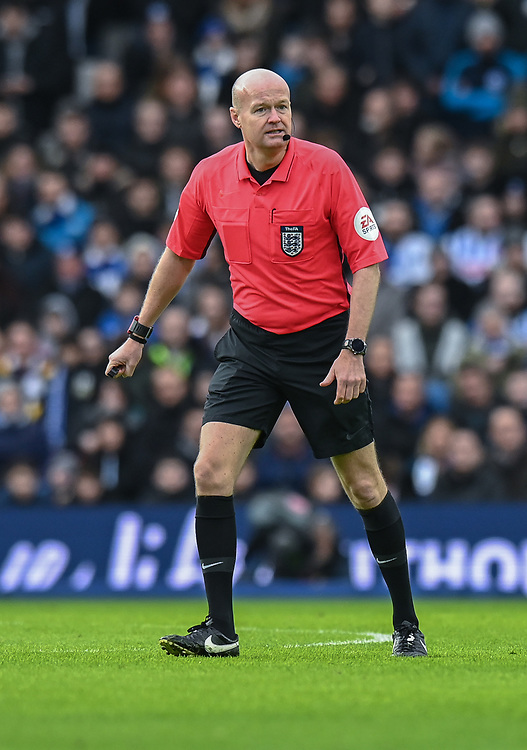 Referee Lee Mason<br /> <br /> Photographer David Horton/CameraSport<br /> <br /> Emirates FA Cup Fourth Round - Brighton and Hove Albion v West Bromwich Albion - Saturday 26th January 2019 - The Amex Stadium - Brighton<br />  <br /> World Copyright © 2019 CameraSport. All rights reserved. 43 Linden Ave. Countesthorpe. Leicester. England. LE8 5PG - Tel: +44 (0) 116 277 4147 - admin@camerasport.com - www.camerasport.com