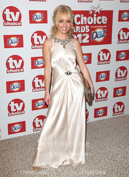 Jorgie Porter arriving for the 2012 TVChoice Awards, at the Dorchester Hotel, London. 10/09/2012. Picture by:  Alexandra Glen / Featureflash