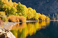 Silver Lake turns golden in autumn, an attracts many to fish and boat on the tranquil lake