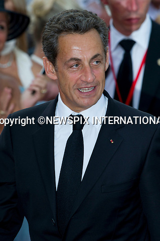 "MONACO ROYAL WEDDING .President Nicolas Sarkozy..Guests Arrive at the Religious wedding of H.S.H Prince Albert II and Miss Charlene Wittstock in the Prince's Palace._Prince's Palace Monaco 01/07/2011..Mandatory Photo Credit: ©Dias/Newspix International..**ALL FEES PAYABLE TO: ""NEWSPIX INTERNATIONAL""**..PHOTO CREDIT MANDATORY!!: NEWSPIX INTERNATIONAL(Failure to credit will incur a surcharge of 100% of reproduction fees)..IMMEDIATE CONFIRMATION OF USAGE REQUIRED:.Newspix International, 31 Chinnery Hill, Bishop's Stortford, ENGLAND CM23 3PS.Tel:+441279 324672  ; Fax: +441279656877.Mobile:  0777568 1153.e-mail: info@newspixinternational.co.uk"