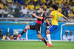 Miroslav Klose (GER), Dante (BRA), JULY 8, 2014 - Football / Soccer : FIFA World Cup Brazil 2014 Semi Final match between Brazil 1-7 Germany at Estadio Mineirao in Belo Horizonte, Brazil. (Photo by Maurizio Borsari/AFLO)