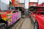 Sep 9, 2011; 11:34:33 AM; Rossburg, OH., USA; The 41st annual running of the World 100 Dirt Late Models racing for the Globe trophy at the Eldora Speedway.  Mandatory Credit: (thesportswire.net)