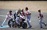 Jerez Circuit. Jerez de la Frontera. 04.05.2014. The rider Karel Abraham during the MotoGP race in Jerez.