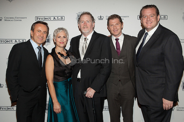 NEW YORK, NY - OCTOBER 19: Daniel Boulud, Bobby Flay and Michael White attend the 15th Annual Benefit in support of Project A.L.S. in New York City. October 19, 2012. © Diego Corredor/MediaPunch Inc..