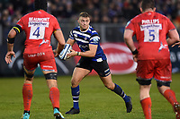 Jack Walker of Bath Rugby in possession. Gallagher Premiership match, between Bath Rugby and Sale Sharks on December 2, 2018 at the Recreation Ground in Bath, England. Photo by: Patrick Khachfe / Onside Images