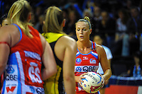 Kimberlee Green in action during the ANZ Netball Championship match between the Central Pulse and NSW Swifts at TSB Bank Arena, Wellington, New Zealand on Saturday, 25 April 2015. Photo: Dave Lintott / lintottphoto.co.nz