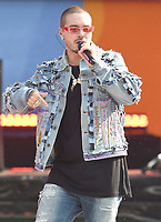 NEW YORK, NY - MAY 15: J Balvin  performs on Good Morning America 2018 Summer Concert Series in Central Park on May 15, 2018 in New York City.  <br /> CAP/MPI/PAL<br /> &copy;PAL/MPI/Capital Pictures