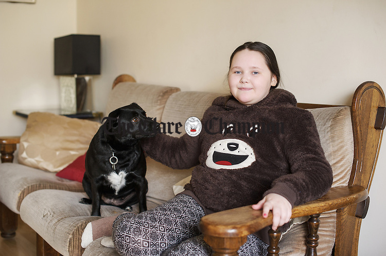 Eleven year old Aoife Sage of Sixmilebridge who suffers from Ehlers–Danlos syndrome (EDS). Photograph by John Kelly.