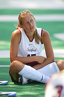 27 August 2005: Chloe Bade during Stanford's 2-1 overtime loss to Miami (Ohio) at the Varsity Turf Field in Stanford, CA.