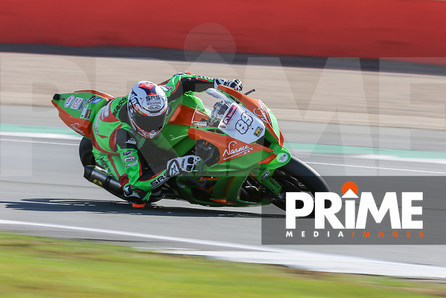 Fraser ROGERS (89) of the BSB Gearlink Kawasaki race team during Free Practice 1 at Round 9 of the 2018 British Superbike Championship at Silverstone Circuit, Towcester, England on Friday 7 September 2018. Photo by David Horn.