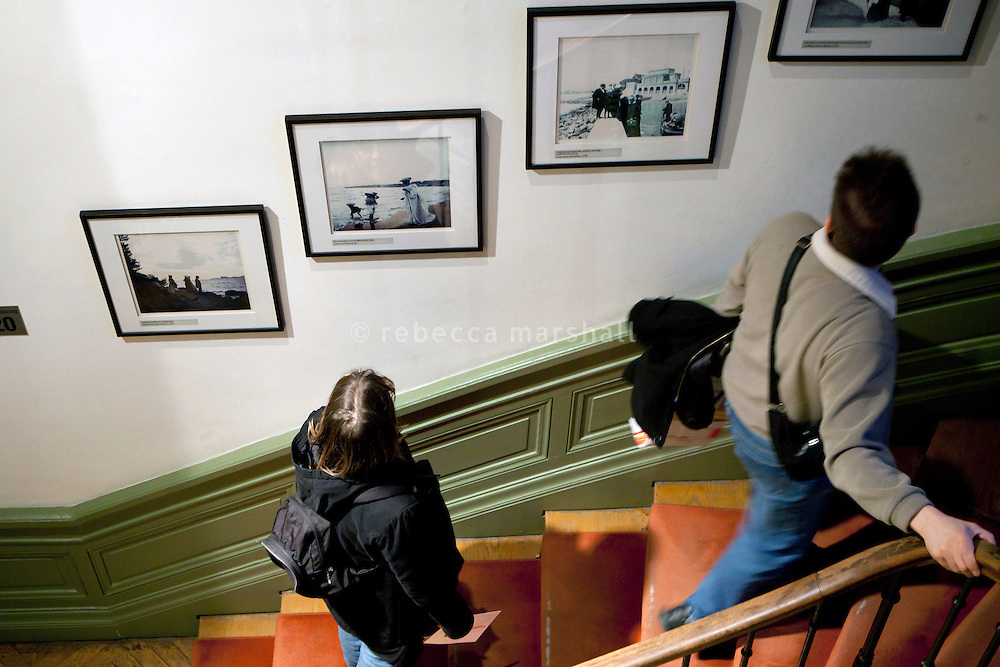 Visitors view photography on display at the Institut Lumiere, Lyon, France, 13 January 2012