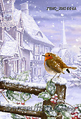 Marcello, CHRISTMAS LANDSCAPES, WEIHNACHTEN WINTERLANDSCHAFTEN, NAVIDAD PAISAJES DE INVIERNO, paintings+++++,ITMCXM1664A,#XL# ,red robin