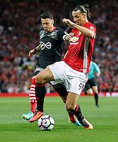 Zlatan Ibrahimovic Manchester e Jose Fonte Southampton<br /> Manchester 19-08-2016<br /> Premier League,<br /> Manchester United - Southampton <br /> Foto Darren Staples/Panoramic/Insidefoto