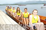 The Muckross RC u16 crew that won at the Killarney Regatta on Monday evening  l-r: : Aine O'Sullivan, Jackie Walpole, Shaunagh Courtney. Emma Brosnan, Orla Cagney, Aldina Murphy,  Shannon O'Shea,